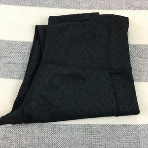 Adidas Black Patterned Cropped Leggings Small S